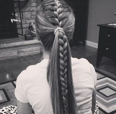 Ponitail + french braid                                                                                                                                                      More
