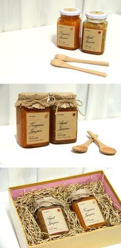 Craft package design jam package design apple jam / tangerine jam made by, eunjin since. 2015 Más