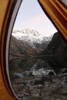 The view from my tent: Lake Marian, New Zealand