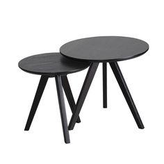 Set of 2 May Tables - Black | Västra Möbel