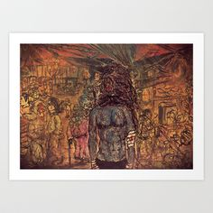 What went down in Chinatown Art Print by Shane R. Murphy - $15.00 Art Prints, Painting, Art Impressions, Painting Art, Paintings, Painted Canvas, Drawings