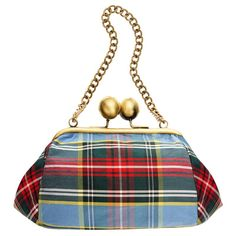 Silk Tartan Clutch Bag - Love This pattern and the colors