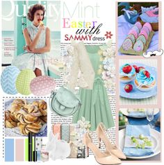 """""""Mint Easter with sammydress.com"""" by idka ❤ liked on Polyvore"""