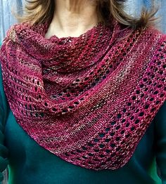 Ravelry: Burnished Berry Shawl pattern by Lilybet Designs Shawl Patterns, Knitting Patterns, Knitting Ideas, Yarn Projects, Knitting Projects, Lace Knitting, Knit Crochet, Knitted Shawls, Knit Scarves
