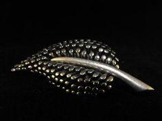 Vintage Brooch 80s Anne Klein Signed Brushed Steel by hipcricket, $25.00