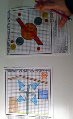 transformations in the coordinate plane - artwork for the classroom with dilations, rotations, reflections, and translations