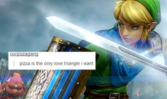 LoZ + Tumblr text post meme