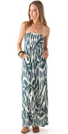 Velvet Maija Strapless Maxi Dress