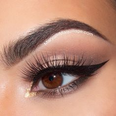 """""""Hey loves!! Here's a soft, dewy eye look paired with sharp cat eye liner & long spiky lashes for Wearable Wednesday  Eyeshadows / Brows: @toofaced…"""""""