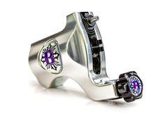 Bishop Rotary Tattoo Machine - Platinum Silver