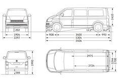 Afbeeldingsresultaat voor binnen afmetingen transport T5 L2