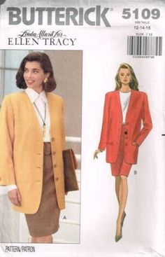 3c992a6bd3c9 5109 Sewing Pattern Butterick Ladies Jacket and Skirt 14 16 18