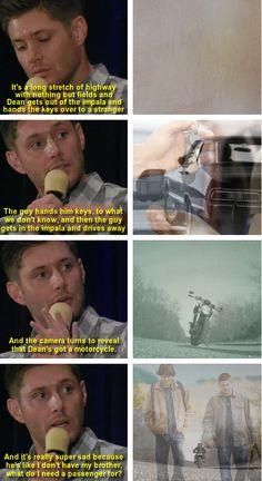 "[gifset] ""I actually dreamed the end of the series."" Jensen Ackles on the ending of Supernatural  NOTHING ABOUT THIS IS OKAY. @Clara Knappen @Tara Harmon Farley @Mary Powers Jane Jones"