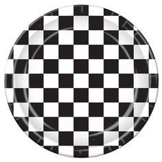 Black & White Checked Party Plates - Nostalgiaville USA