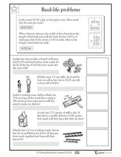 math worksheet : decimal real life and worksheets on pinterest : Problem Solving With Decimals Worksheets
