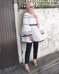 Casual Hijab Outfit, Casual Outfits, Casual Wear, Hijab Elegante, Hijab Chic, Mode Outfits, Fashion Outfits, Modele Hijab, Hijab Stile