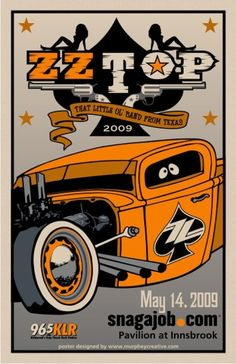 ZZ Top Tour Posters, Band Posters, Vintage Concert Posters, Vintage Posters, Cool Album Covers, Heavy Metal Rock, Zz Top, Rock And Roll Bands, Rap