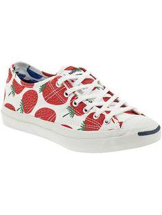 marimekko strawberry print converse sneakers.