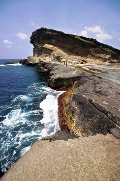 biri rock formations. samar, philippines.