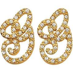 Guess, Tory Burch, Swarovski, Symbols, Letters, Earrings, Jewels, Ear Rings, Stud Earrings