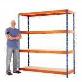 Max 1 heavy duty shelving, designed for industrial uses such as warehouse or workshops.