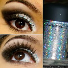 MAC 3D Glitter. With or without the glitter, like the eye make-up