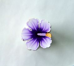 Purple Hibiscus Clay Cane by polymerclaycreations, via Flickr