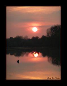 Coucher de soleil sur la Divatte, Loire Atlantique (France)
