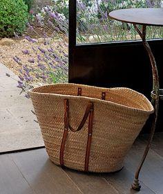 French Market Basket...summertime necessity!  :)