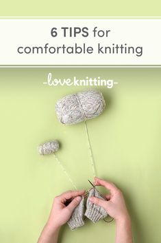 Suffer from tennis elbow, sore hands or tired limbs? Here are 6 tips to make knitting and crocheting more comfortable Inspiration Knitting Patterns Free, Knit Patterns, Free Knitting, Baby Knitting, Knitting Projects, Crochet Projects, Knitting Ideas, Knitting Tutorials, Yarn Projects