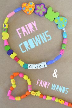 Beaded Fairy Wands and Fairy Crowns - I cant wait to make a few of these