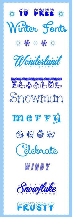 Click here to download 10 magical Christmas free winter fonts