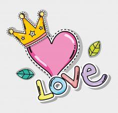 Cute and lovely cartoons Premium Vector Love Wallpaper, Cartoon Wallpaper, Beautiful Love Images, Pop Art, Graffiti, Image Svg, Scrapbook Stickers, Art Plastique, Cute Cartoon