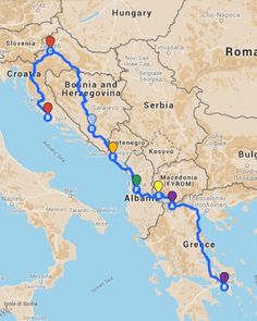 Read here a list of the top 10 places to visit in Montenegro . Kotor, Budva, and more! Travel Route, Travel Maps, Best Places To Travel, Places To Visit, European Road Trip, Road Trip Map, Trekking, Backpacking Europe, Vietnam Travel