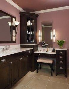 Double sink corner vanity   Google SearchTwo large vanities meet in the corner  creating an L shaped  . Double Sink Corner Vanity. Home Design Ideas