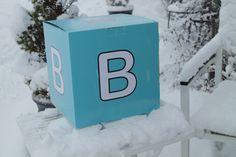 Fine boksen vår ute i sneen.
