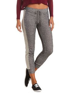 French Terry Skinny Sweatpants: Charlotte Russe Like this look... good for lazy dayz....