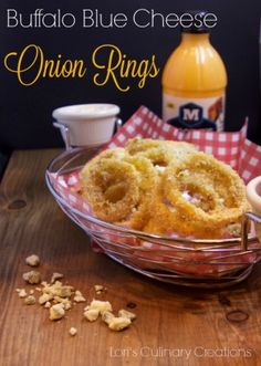 Buffalo Blue Cheese Onion Rings made with Moore's Buffalo Blue Cheese ...
