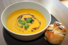 Štýrská dýňová polévka Thai Red Curry, Food And Drink, Soup, Russian Recipes, Cooking, Ethnic Recipes, Polish, Baking Center, Vitreous Enamel
