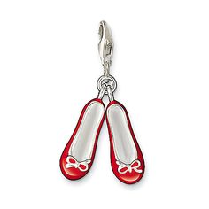 Charm Ballet shoes from the Charm Club collection in the THOMAS SABO online store Thomas Sabo, Red Ballet Shoes, Ballerina Shoes, Tutu, Hermes Bracelet, Charm Bracelets, Elegant Watches, Little Bow, Silver Shoes