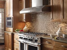 nice blend of mohawk mosaics make a beautiful backsplash