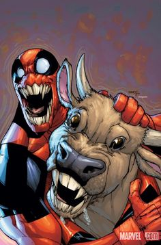 Deadpool by Humberto Ramos | Can somebody explain to me what the hell??