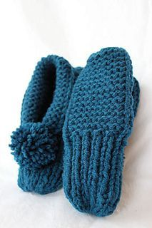 Updated Parkspin Slippers by Joan Janes - free on Ravelry
