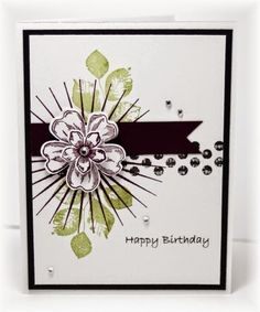 Stampin' Up! Flower Shop, pansy punch, Kinda Eclectic, Happy Birthday