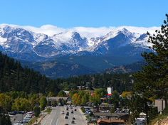 Estes Park, Colorado. Since it is one of my most favorite mountain towns, I have been here many times. Quaint little town perfect for weekend getaways. It borders Rocky Mountain National Park and that's worth a visit, too.
