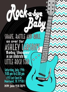 Rock A Bye Baby SHower Invite