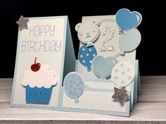 Who doesn't love balloons and cupcakes? This card has both but can easily be changed up to use for any occasion.