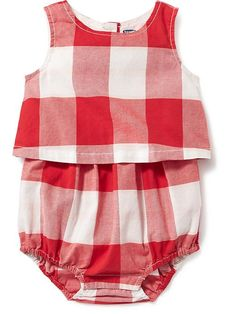 Plaid Bubble One-Piece for Baby