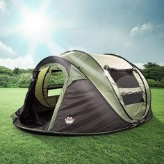 2017 Dome Tent Instant Cabin Family Camping Tent w/ Anti-UV For Hiking 4 Person Camping Tent, Best Tents For Camping, Family Camping, Tent Camping, Camping Gear, Camping Hacks, Glamping, Instant Tent, Cabin Tent