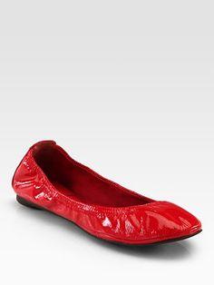 Tory Burch - Eddie Patent Leather Ballet Flats - Saks.com